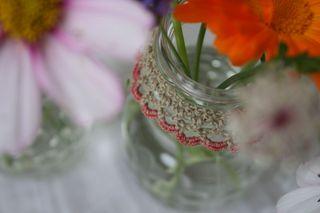 Rose & linen collar