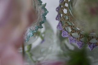 Collar, blue, lilac