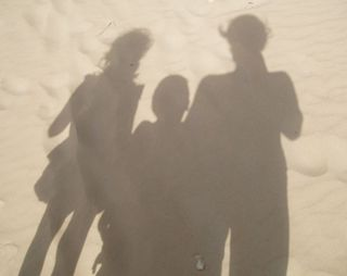 Shadows on the beach