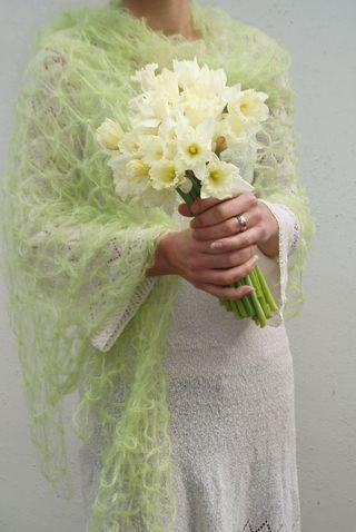 Green cobweb shawl