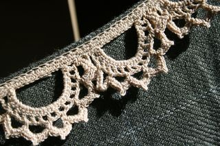 Dress collar detail