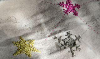 Snowflakes stocking