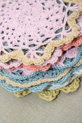 Linen doily stack