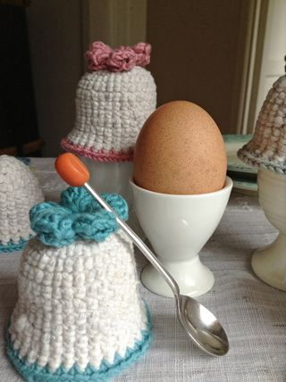 Turquoise egg cosy